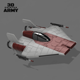cults4.png Download STL file STAR WARS   A-WING RZ-1 STARFIGHTER with BASEMENT  • Template to 3D print, 3DprintedArmy