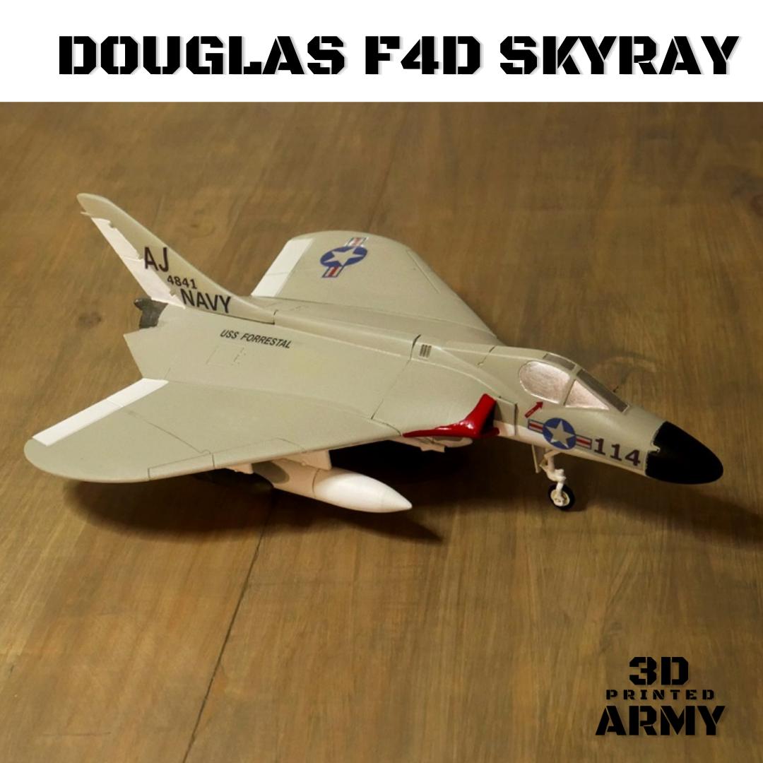Sans titre.png Download STL file DOUGLAS F4D SKYRAY  • 3D printer object, 3DprintedArmy