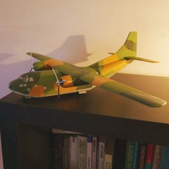 Download 3D print files Cargo plane Fairchild C-123 Provider  scale model , 3DprintedArmy