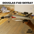 Sans titre (3).png Download STL file DOUGLAS F4D SKYRAY  • 3D printer object, 3DprintedArmy