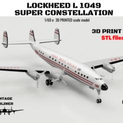 Download 3D printer designs Lockheed L1049 Super CONSTELLATION, 3DprintedArmy