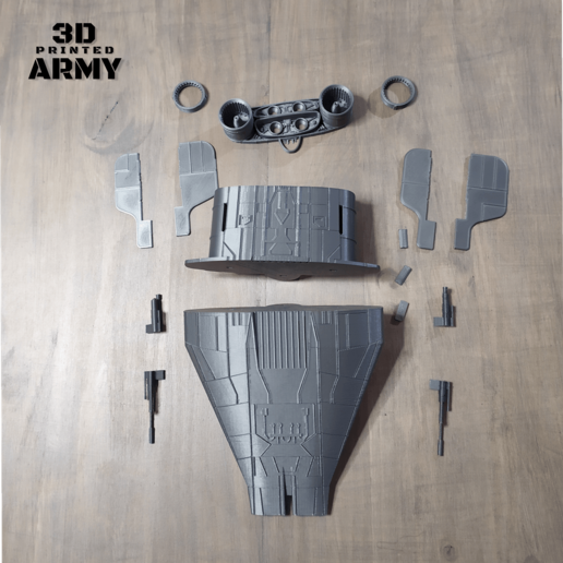 cults 7-1.png Download STL file STAR WARS   A-WING RZ-1 STARFIGHTER with BASEMENT  • Template to 3D print, 3DprintedArmy