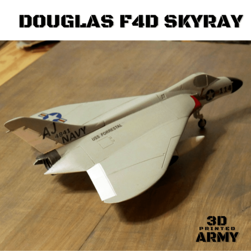 Sans titre (2).png Download STL file DOUGLAS F4D SKYRAY  • 3D printer object, 3DprintedArmy