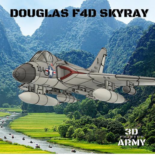 Sans titre (9).png Download STL file DOUGLAS F4D SKYRAY  • 3D printer object, 3DprintedArmy