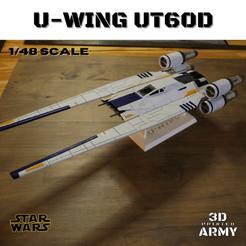 a1-min.png Download STL file STAR WARS U-WING UT60D with basement  • 3D printing template, 3DprintedArmy
