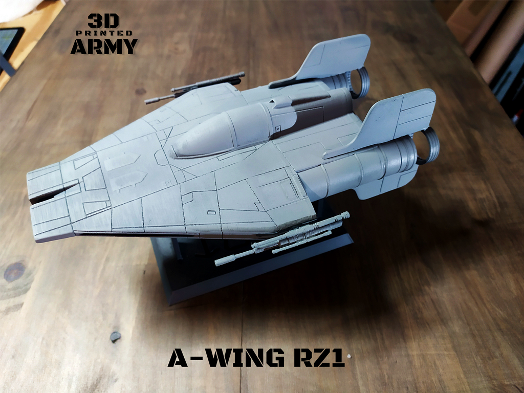 cults 9-1.png Download STL file STAR WARS   A-WING RZ-1 STARFIGHTER with BASEMENT  • Template to 3D print, 3DprintedArmy