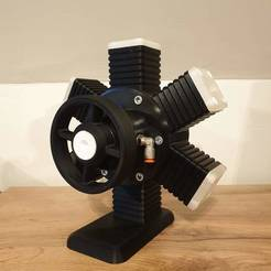 20200714_121026.jpg Download STL file working 6cilinder radial air engine • 3D print model, thomasbostijn