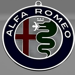 Descargar STL gratis COLGANTE ALFA ROMEO, przemek