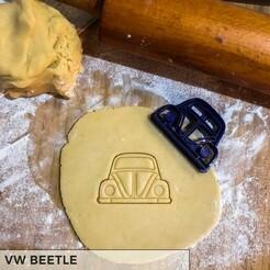 Beetle.jpg Download STL file VW BEETLE COOKIE CUTTER • 3D print object, romanprints
