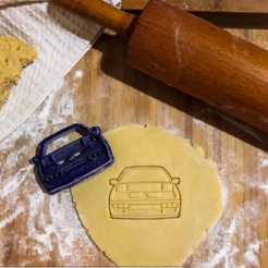 3D print model Volkswagen golf Mk3 cookie cutter , romanprints