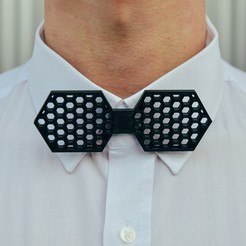 3D printer files Hexagon bow tie , romanprints