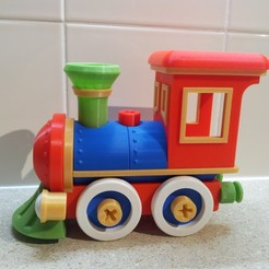 Download STL file Toy train locomotive construction set • 3D print template, brumarg