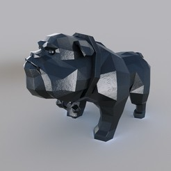 dogi.jpg Download 3DS file Dog-bulldog • 3D printing template, MaKsi3D
