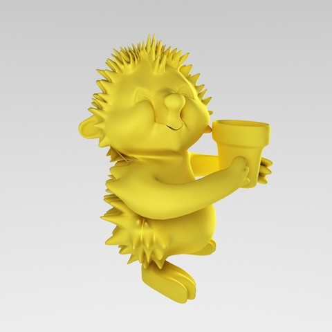 Download free 3D printer templates Hedgehog, MaKsi3D