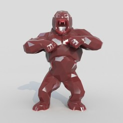 Download 3D printing templates Wild King Kong, MaKsi3D