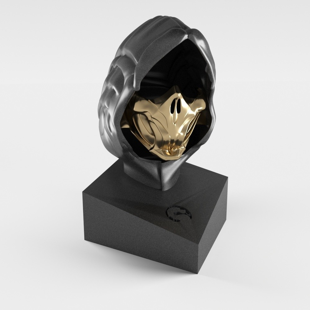 scorpion.jpg Download STL file Scorpion mask • 3D print design, MaKsi3D