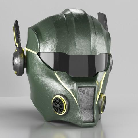 """Download 3D printer designs Helmet """"Warrior 2084"""", MaKsi3D"""