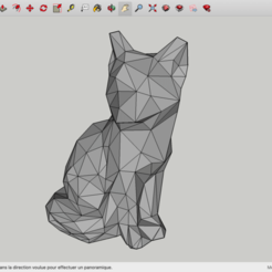 Download free 3D printing designs Low Poly Fox, rostchup228