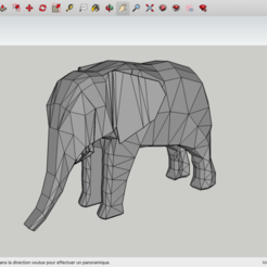 Download free 3D printer templates Low Poly Elephant, rostchup228