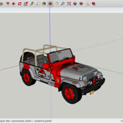 Descargar STL gratis Jeep Parque Jurásico, rostchup228