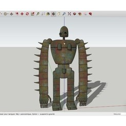 Free 3D printer designs Robot_Soldier_from_Laputa_Castle_in_the_Sky, rostchup228