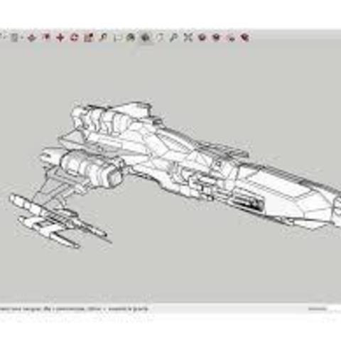 Download free 3D printing files W-B-39_SpaceShip, rostchup228