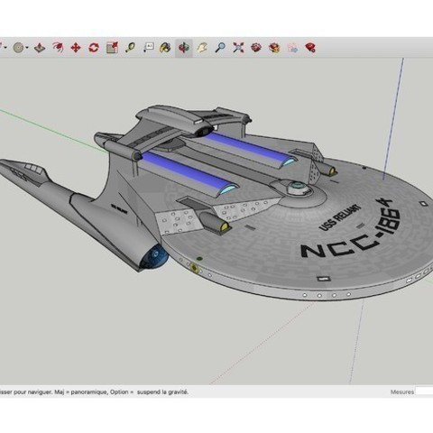 Download free 3D printing templates USS_Reliant_Kelvin_SpaceShip, rostchup228