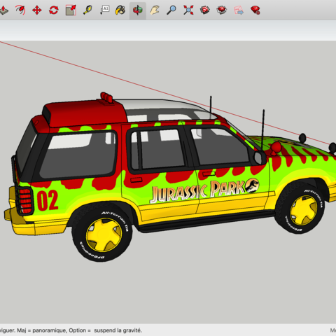 Download free 3D model Jurassic Park FORD Explorer ・ La Poste