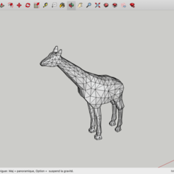 Download free 3D printing files Low Poly Giraffe, rostchup228