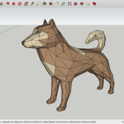 Download free 3D printing models Low Poly Dog, rostchup228