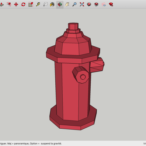 Download free 3D printing templates Low Poly Fire Hydrant