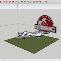 Download free STL files Jurassic Park 3 Beechcraft king air 200, rostchup228