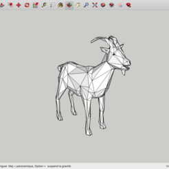 Download free 3D printer designs Low Poly Goat, rostchup228