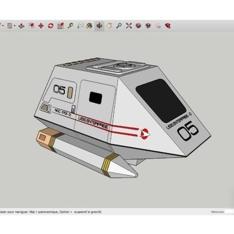 Download free 3D printer designs USS_Enterprise_NCC_1701_D_Navette, rostchup228