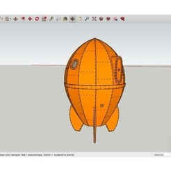 Download free 3D printing templates Wallace_s_Rocketship, rostchup228