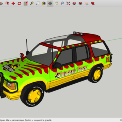 Impresiones 3D gratis Parque Jurásico FORD Explorer, rostchup228