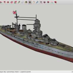 Download free 3D print files Low Poly Nagato, rostchup228