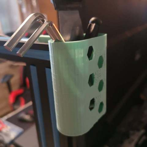 Download free 3D printing templates Tool holder / battery CR10, DylM12