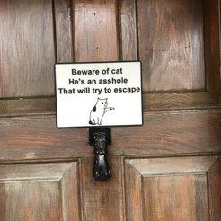 Archivos STL gratis Signo de Gato, jakedkleiner