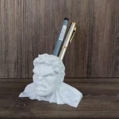 Modelos 3D para imprimir Hulk pencil holder pen holder desk organizer, ponchoaem