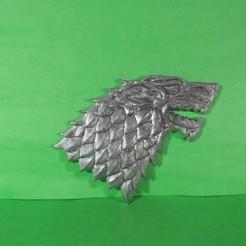IMG_0029.JPG Télécharger fichier STL Loup de Stark pour mur • Plan pour impression 3D, ponchoaem