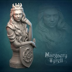 Download 3D printing models Margaery Tyrell, GrinNT