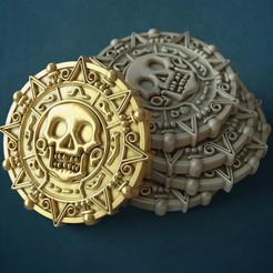 pirate.jpg Download STL file Pirate Coin • 3D printable object, GrinNT
