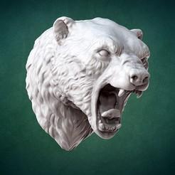 Modèle 3D Buste d'ours polaire, GrinNT