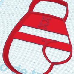 Download 3D printer templates Boxing gloves - cookie cutter, SandryBoop