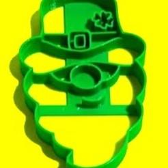 Leprechaun.jpg Download STL file St Patrck day Leprechaun Cookie cutter- San Patricio • 3D printing template, SandryBoop