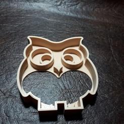 Télécharger modèle 3D Découpeur de biscuits en forme de hibou - chouette couveuse, SandryBoop