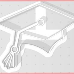 birrete-D.jpg Télécharger fichier STL Casquette de diplômé - coupe-cuisine - sortie de birette • Modèle imprimable en 3D, SandryBoop