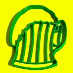Download STL Beer chop cookie cutter - Beer mug, SandryBoop