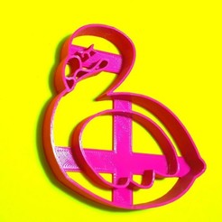 Descargar STL Baby Flamingo - cookie cutter, SandryBoop